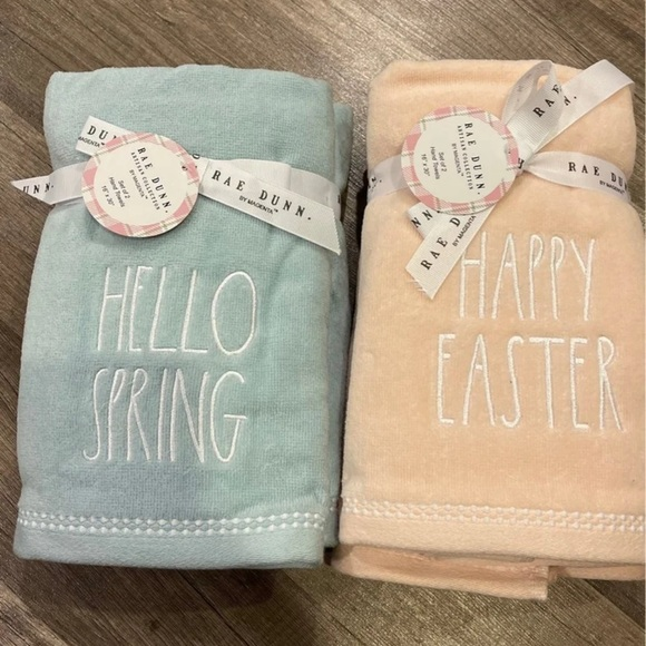 Rae Dunn Happy Easter Hello Spring Hand Towels